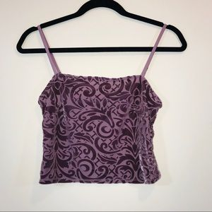 Forever 21 Tops - Forever 21 Velvet Embossed Crop Top - #1168